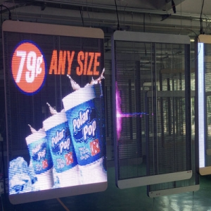 Window Transparent Poster LED Screen